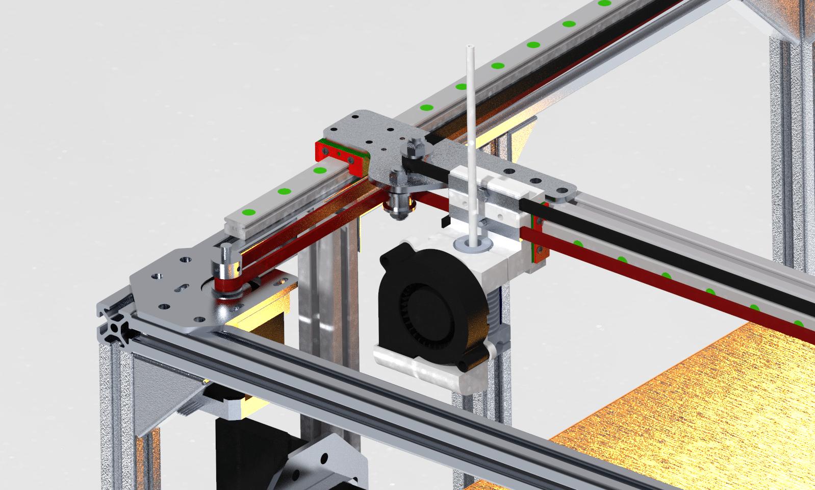 xy gantry of 3d printer